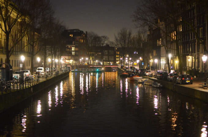 Prinsengracht Canal at Night time