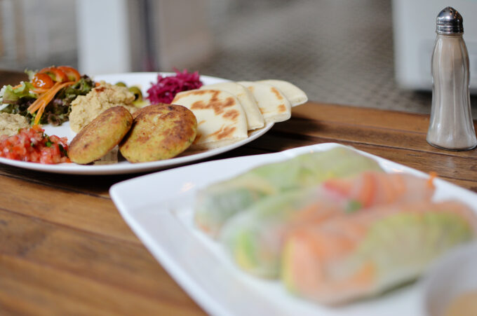 Artillery Cafe at Siem Reap | Falafel & Hummus and Veggie Rolls