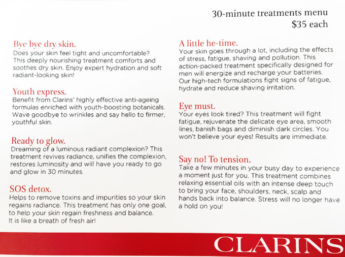 Clarins Open Spa Toronto