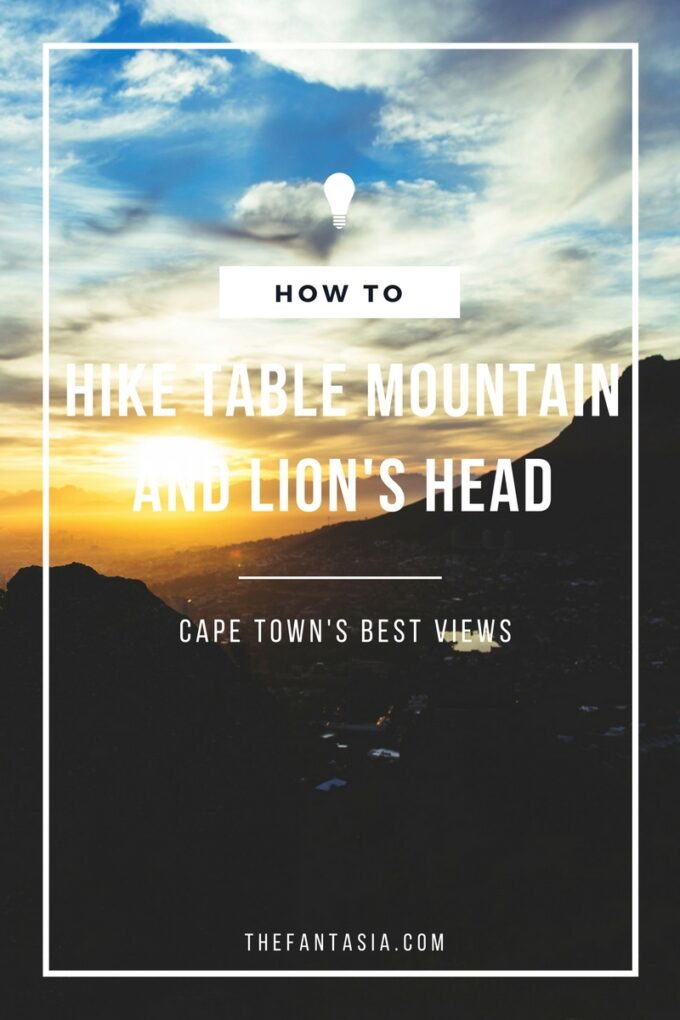 Cape Town is home to two small mountains which makes hiking Table Mountain and Lion's Head a favourite pasttime for locals and must-do's for travellers!