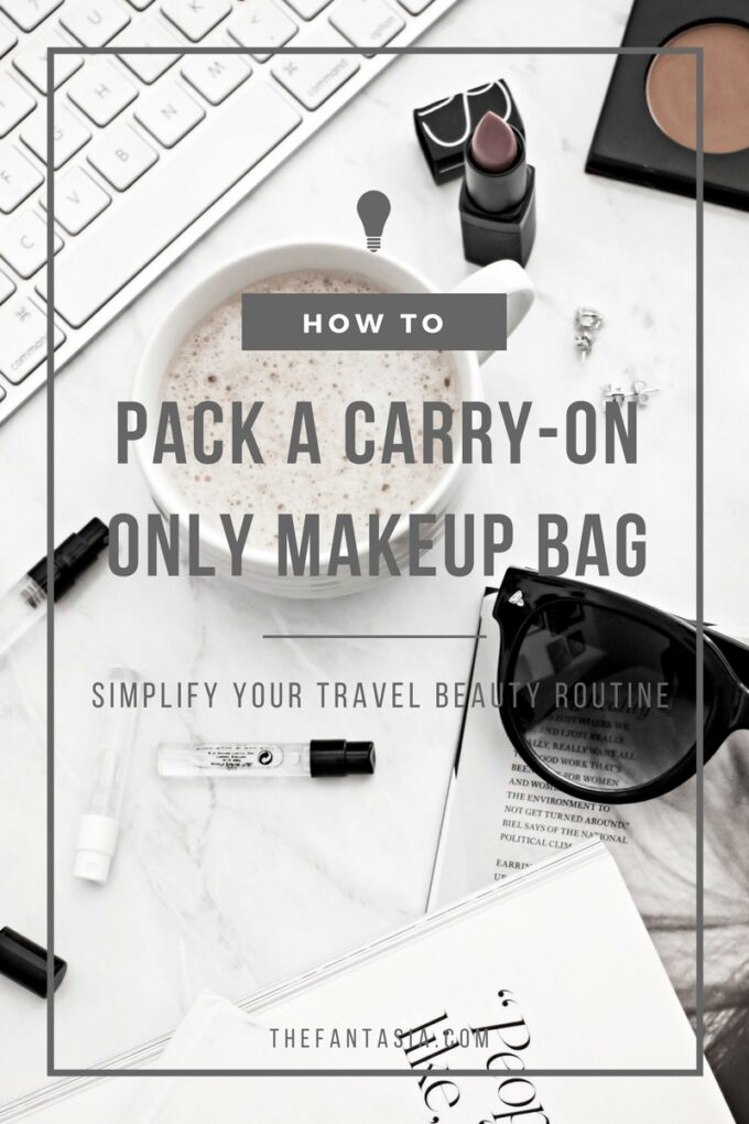 How do you simplify your travel routine to become a better traveller? Travelling 6-7 times year internationally has taught me a thing to optimize my carry on makeup bag and do it efficiently! Since every pound counts, here are a few tips and suggestions to simplify your makeup routine so you can skip the baggage claim!