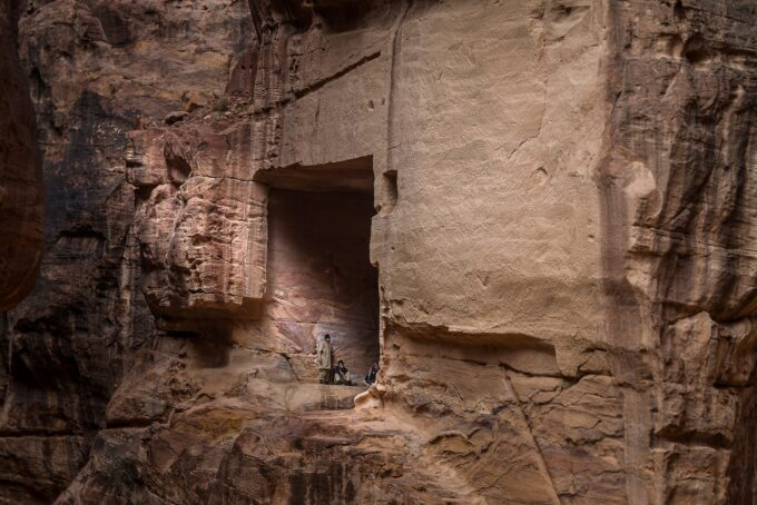 Many local Bedouin tribes still live in the caves within Petra!