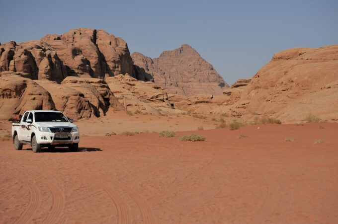 Camping Overnight in Wadi Rum with Bedouin Directions | the jeep that took me all over the desert