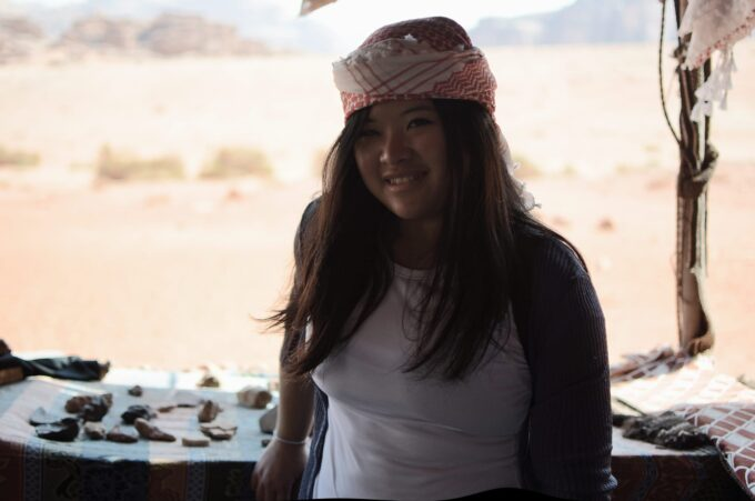 Overnight in Wadi Rum | Sleeping in the Desert - Trying out that keffiyeh - how do I look?
