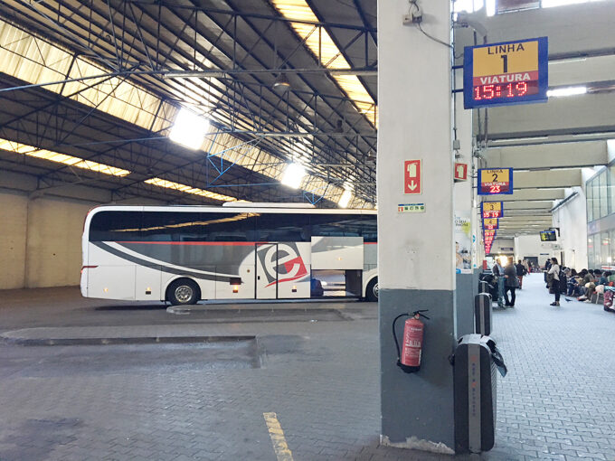 The bus station at Lisboa Sete Rios
