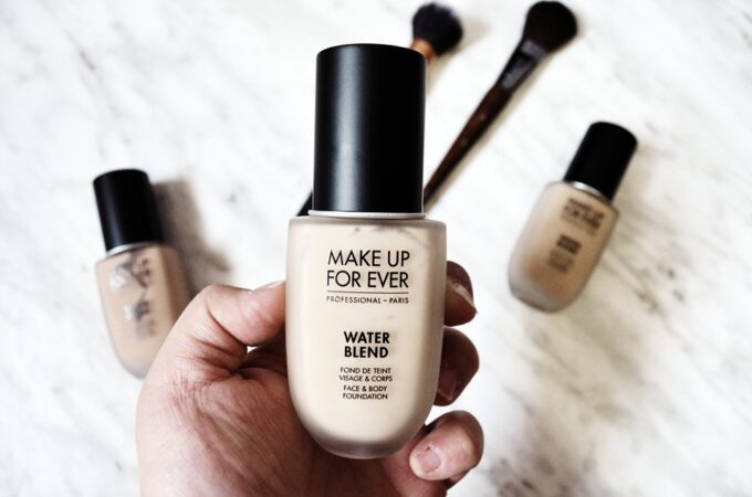 Make Up For Ever Water Blend Face & Body Foundation.