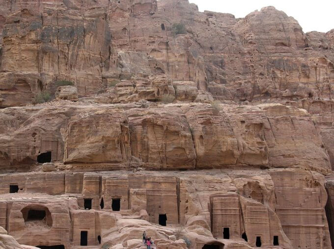 "Petra Street of Facades | Petra - there's something quite still so mystical about this ancient city. Once ""lost"" to the world, it was rediscovered by Westerners in late 1800s which is now Jordan's major tourist attraction site. What to do there beyond the Treasury? Here's a list of 10 things to do in Petra that goes beyond the iconic Treasury!"