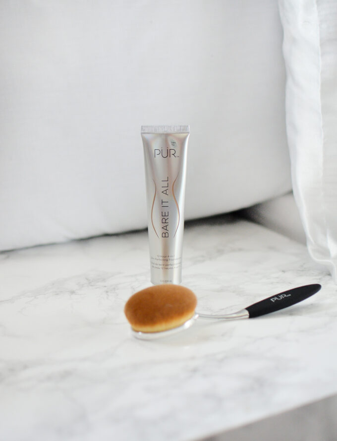 PUR Bare It All Foundation & Skin Perfecting Brush Review.