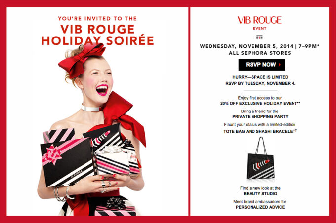 Sephora VIB Rouge Holiday Soiree Event