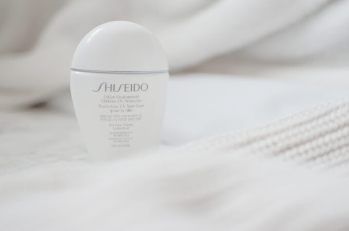 Shiseido Urban Environment Oil-Free UV Proctector.