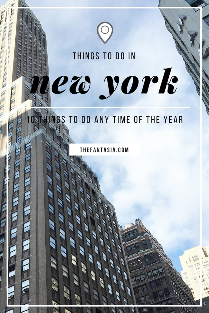 New York has always topped everyone's list of places to go/visit! Like most, the thought of visiting New York sets my heart racing, but it can also be a daunting task to narrow down the best bits to visit during your stay so here are my suggestion of things to do in New York, anytime of the year!