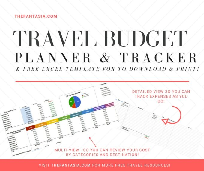 Travel More In 2017 Free Travel Budget Planner Printable The Fantasia