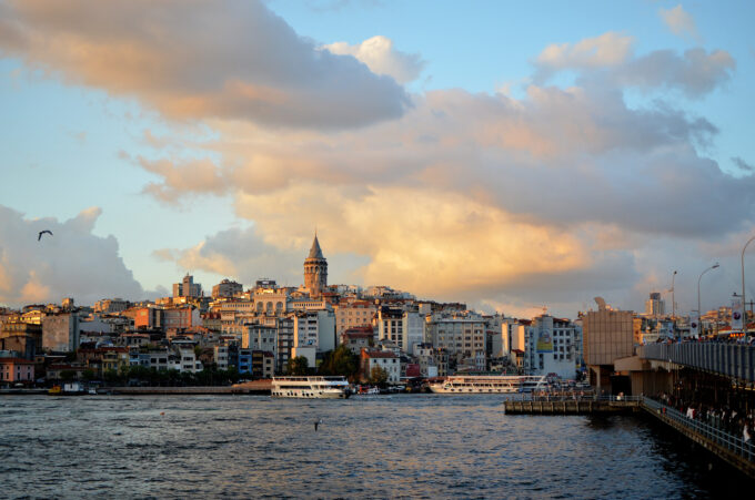 Views of the Galata Towers in Karakoy in Istanbul!