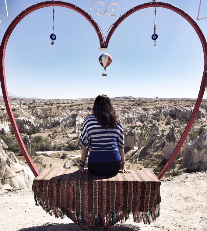 Hanging out at the Love Valley in Cappadocia, Turkey!