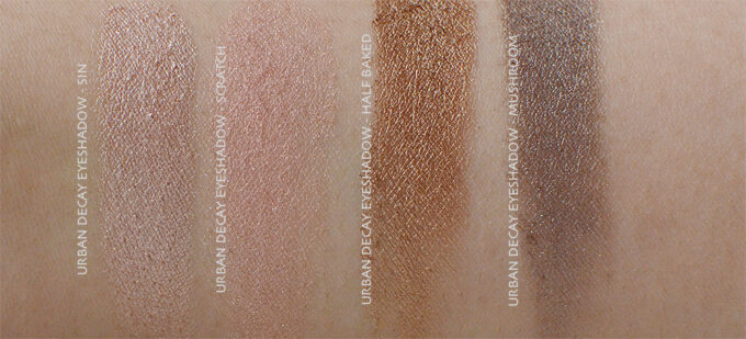 Urban Decay Eyeshadow Review & Swatches.