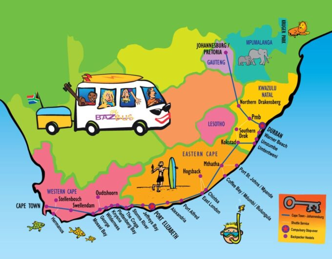 Country-wide Hop On Hop Off Bus | BazBus South Africa Day Tours.