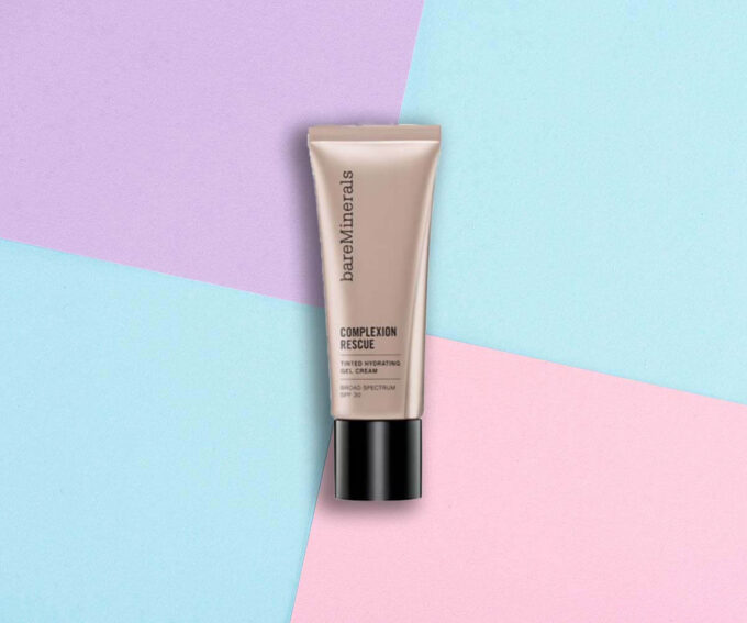 "Best Liquid Foundation: ""Complexion Rescue Tinted Hydrating Gel Cream Broad Spectrum SPF 30"" from BareMinerals"