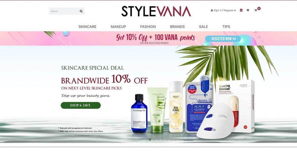Stylevana Homepage